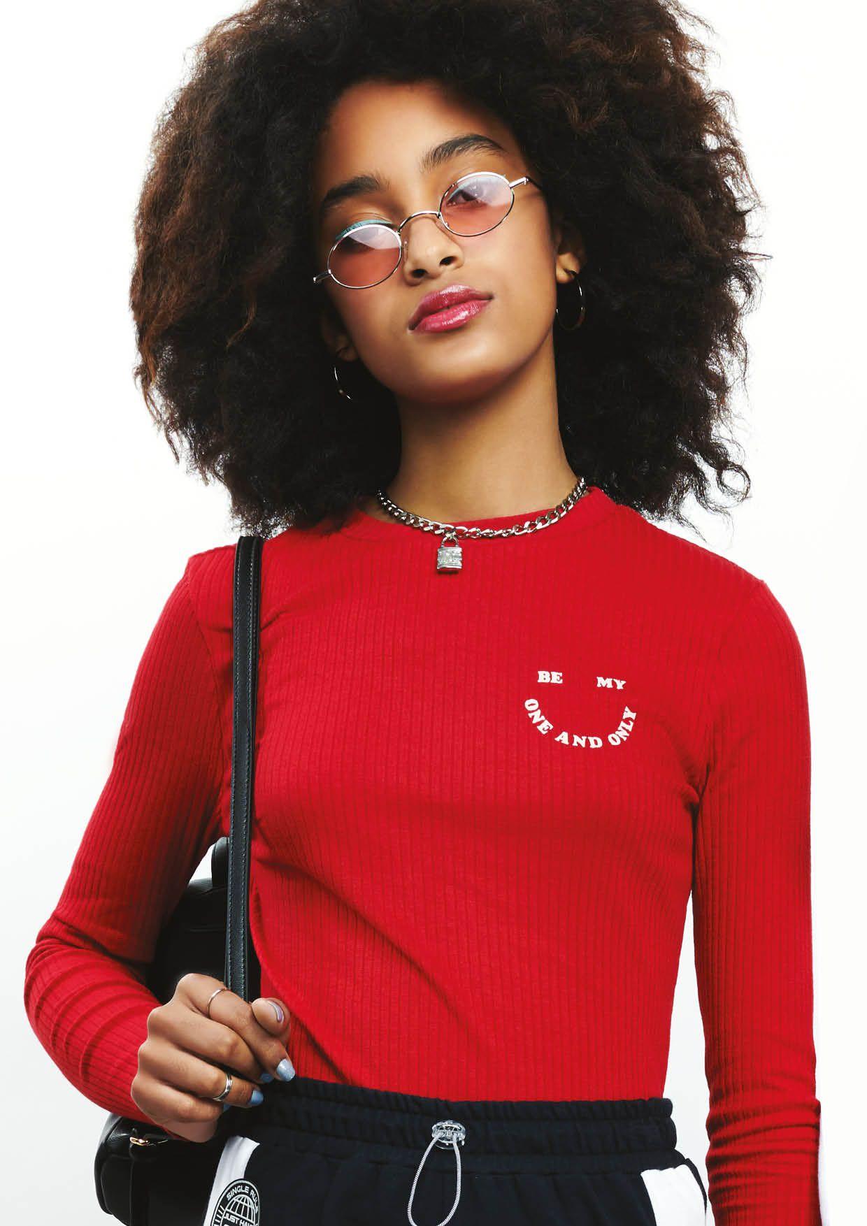 Blusa Canelada Smile Red