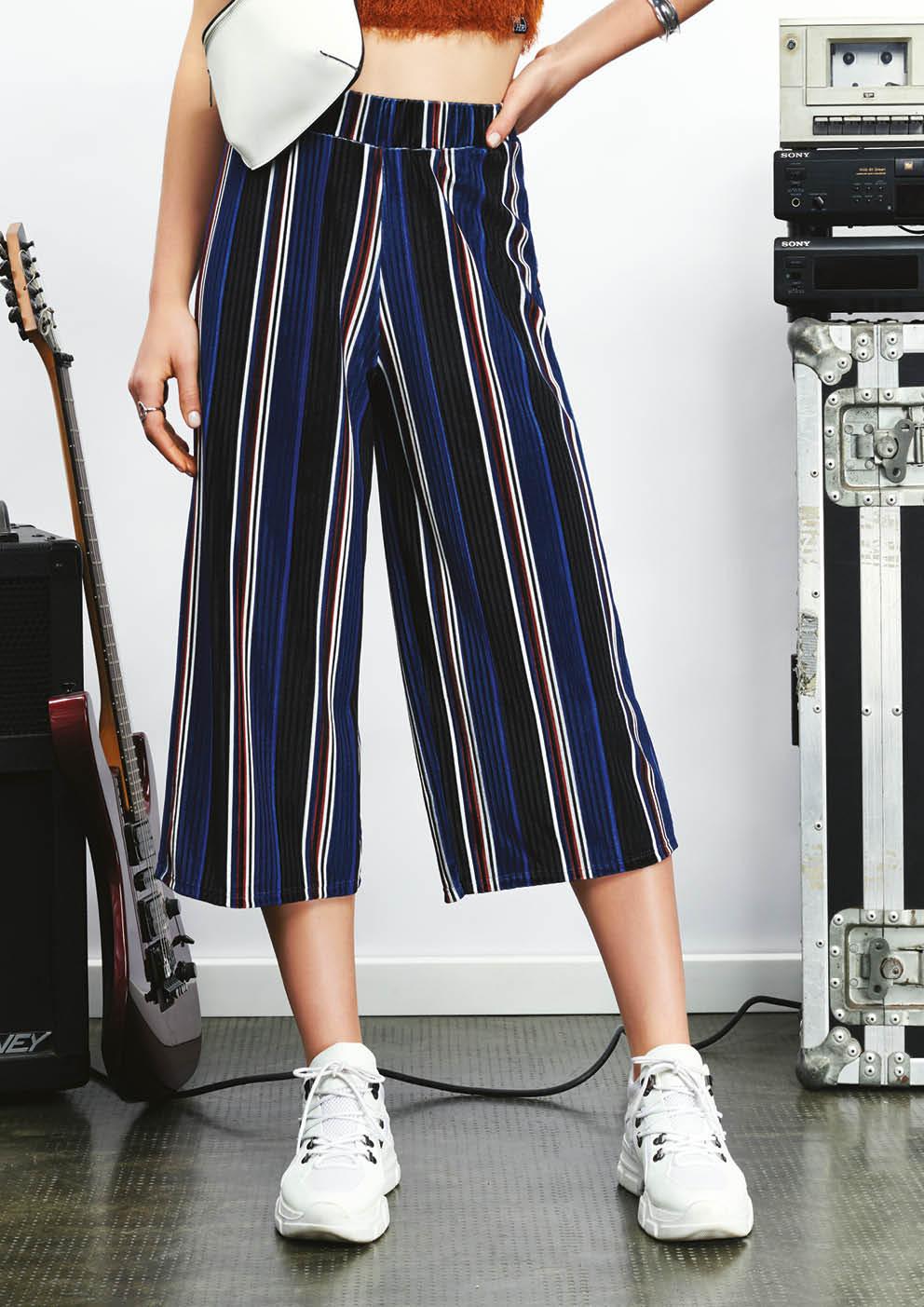 Pantacourt Velvet Stripe