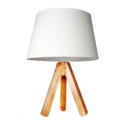Abajur de mesa com base tripé 29,5 cm