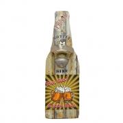 Abridor de garrafa com suporte para pendurar