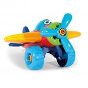 Avião didático colorido