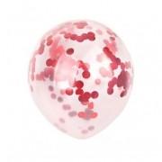 Balão transparente com confetes coloridos