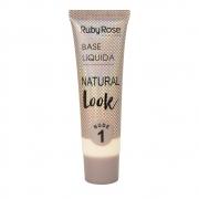 Base líquida Natural Look Ruby Rose - nude 1