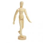Boneco articulado de madeira 15,5 cm