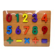 Brinquedo educativo números de encaixe
