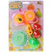 Kit cozinha com frutas de brinquedo