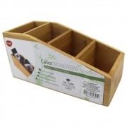 Caixa organizadora multiuso em bambu 22,5 cm