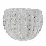 Castiçal Bolinhas em vidro 7,5 cm