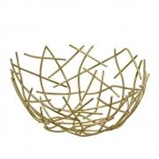 Centro de mesa aramado dourado 20,5 cm