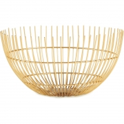 Centro de mesa aramado dourado 27 cm