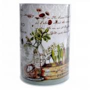 Cofre tonel Floral 22 cm