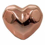 Coração decorativo em cerâmica 8,5 cm