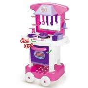 Cozinha infantil Play Time rosa com lilás