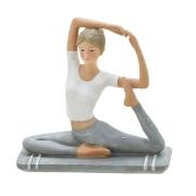 Escultura Mulher Yoga 14 cm