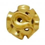 Escultura Ouriço dourado 17,5 cm