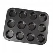 Forma antiaderente para 12 cupcakes