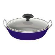 Frigideira gourmet azul com alça Eterna 28 cm