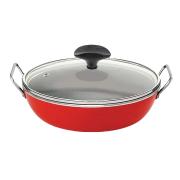 Frigideira gourmet vermelha com alça Eterna 28 cm