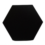 Gancho de madeira Hexágono preto