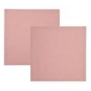 Guardanapos de algodão rose 2 peças