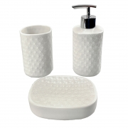 Jogo de banheiro em cerâmica 3 peças