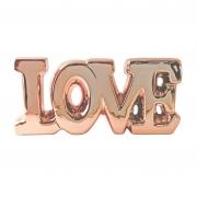 Letreiro Love em cerâmica metalizada