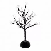 Luminária árvore Cerejeira branca 35 cm