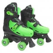 Patins Roller ajustável tamanho G 37-40 verde