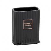 Porta escova em cerâmica preta