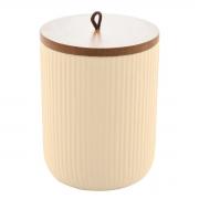 Pote hermético de cerâmica com tampa de bambu Lines Lyor 15 cm