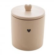 Pote hermético de cerâmica Heart Lyor 12 cm