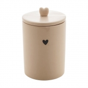 Pote hermético de cerâmica Heart Lyor 15 cm