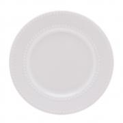 Prato raso em porcelana New Bone Pearl Lyor 27 cm