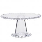Prato de cristal com pé Pearl Wolff 31 cm
