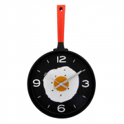 Relógio de parede Frigideira com ovo frito 25 cm