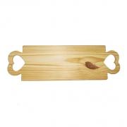 Tábua em madeira pinus Coração 42x10,2
