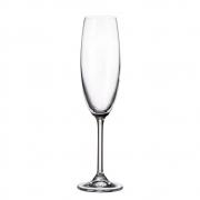 Taça de cristal Bohemia para champagne 220 ml