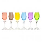 Taças de cristal colorido para licor Elisa 65 ml