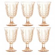 Taças de vidro âmbar Calcutá Lyor 6 peças