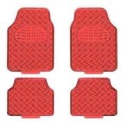 Jogo de tapete automotivo vermelho 4 peças