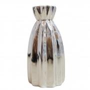 Vaso decorativo em cerâmica metalizada 11,5 cm