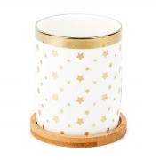 Vaso decorativo com suporte em bambu 10,5 cm