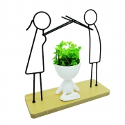 Vaso Bob Robert Planta com folhagem artificial