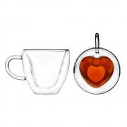 Xícaras para chá com parede dupla Heart Lyor 230 ml