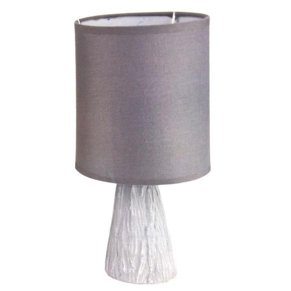 Abajur de mesa com base de cerâmica