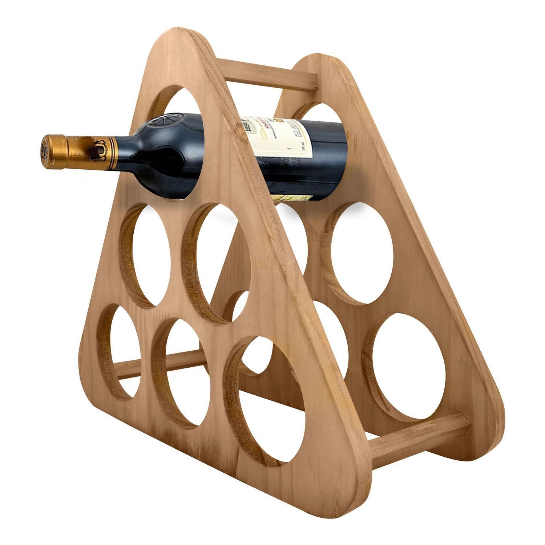 Adega de madeira para 6 garrafas