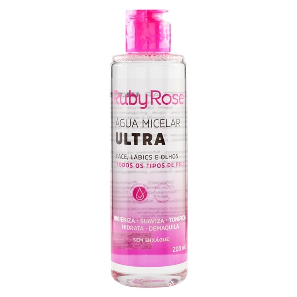Água micelar Ultra Ruby Rose 200 ml