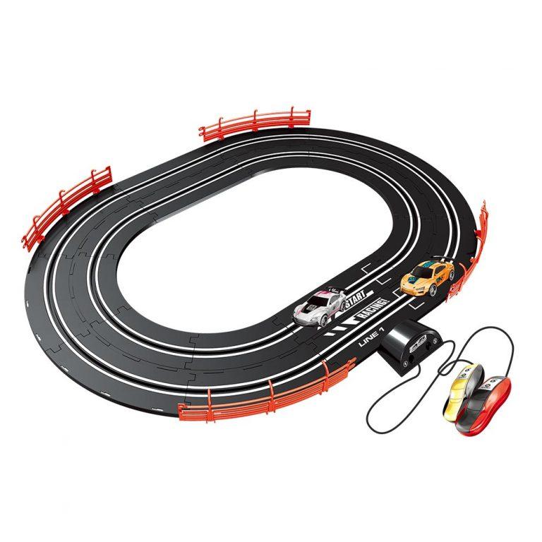 Auto pista com circuito oval Turbo Run 1:43