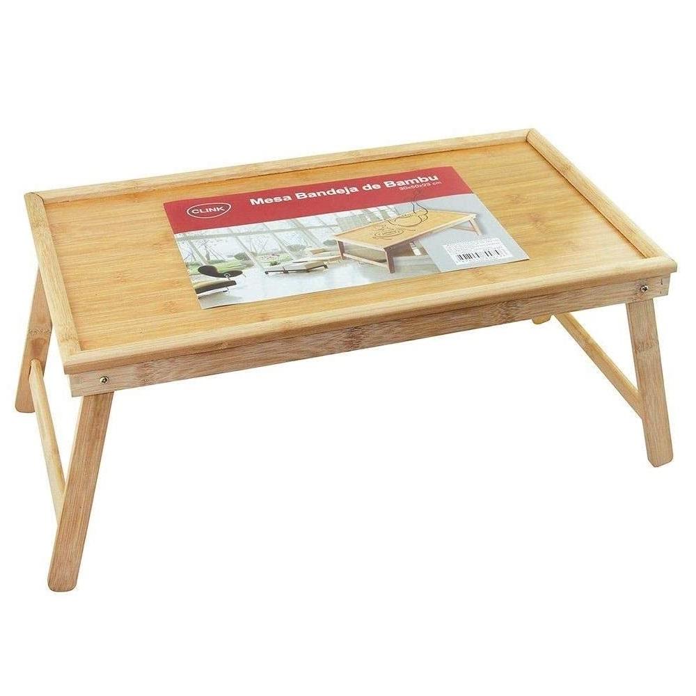 Bandeja de cama em bambu 50 cm