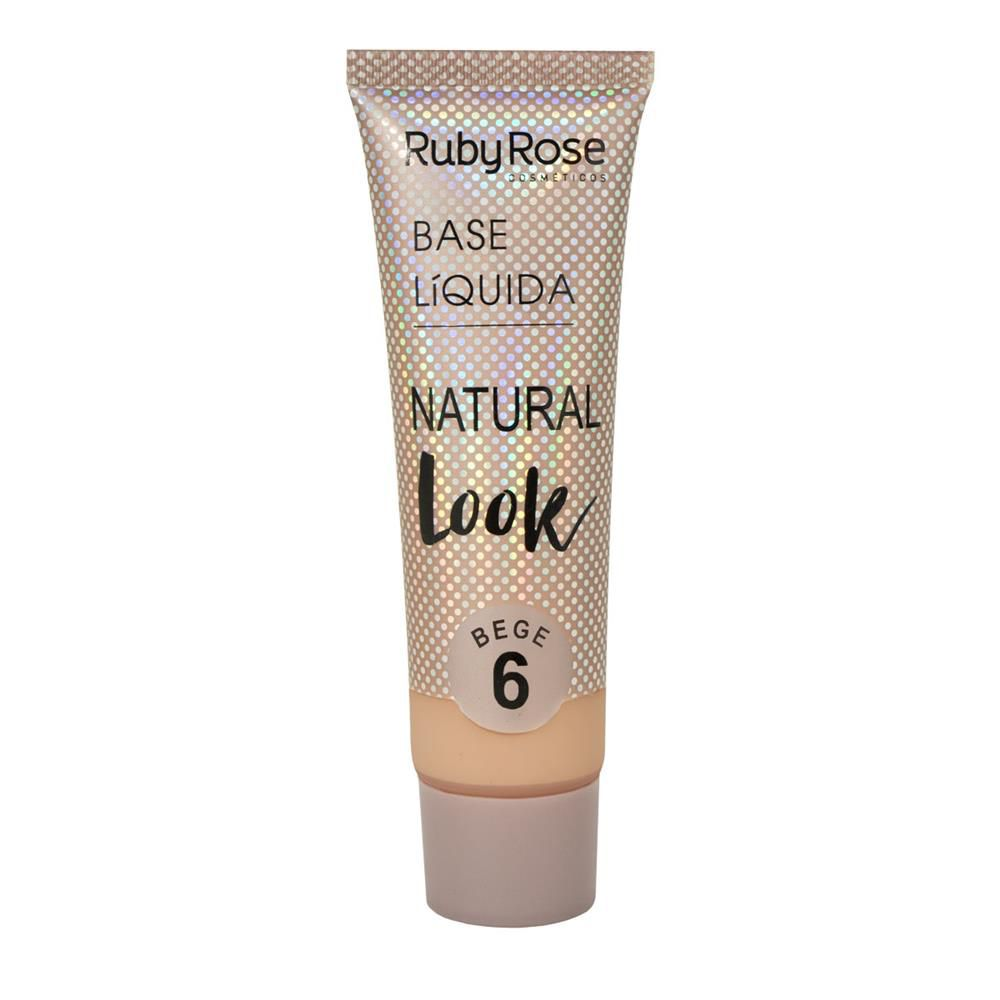 BASE LÍQUIDA NATURAL LOOK BEGE 6 RUBY ROSE